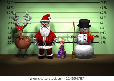 Computer-generated 3D cartoon illustration depicting a Christmas ...