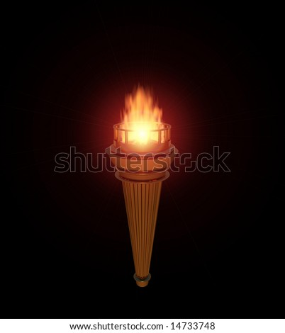 Computer-generated 3D illustration a torch