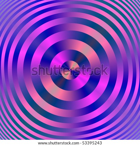 Computer generated fractal image with an abstract design of concentric rings in blue and pink.Blue and Pink
