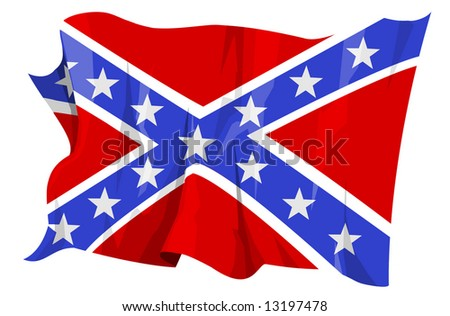 Computer generated illustration of the confederate flag