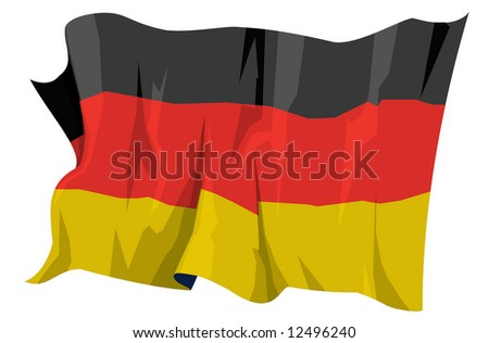 Computer generated illustration of the flag of Germany