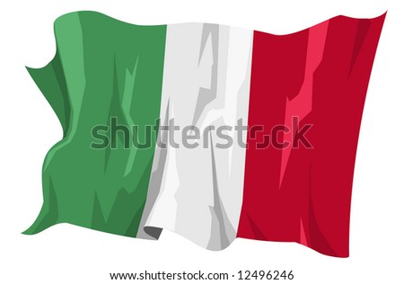 Computer generated illustration of the flag of Italy