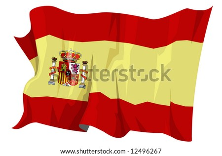 Computer generated illustration of the flag of Spain