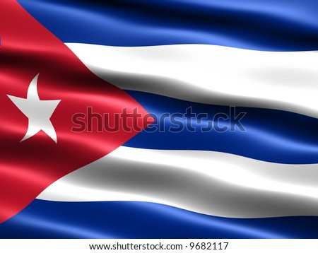 Shutterstock Computer generated illustration of the flag of the Republic of Cuba with silky appearance and waves