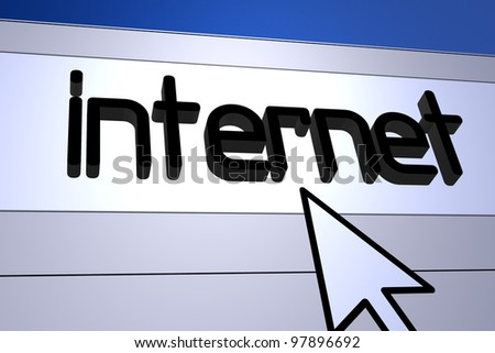 Computer generated image for internet concept.