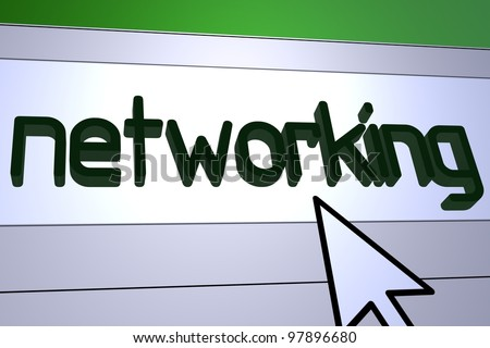 Computer generated image for Networking concept.