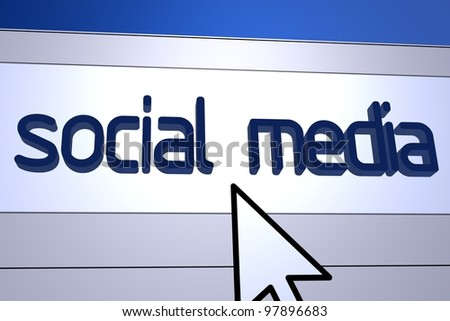 Computer generated image for Social Media concept.