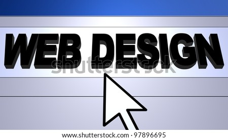 Computer generated image for Web Design concept.