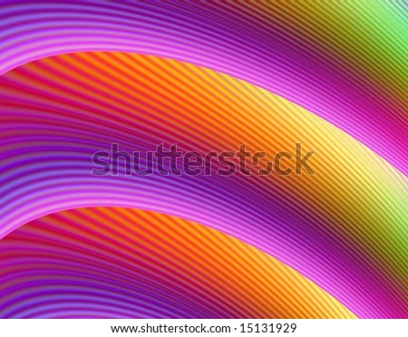 Computer generated image in a rainbow design.