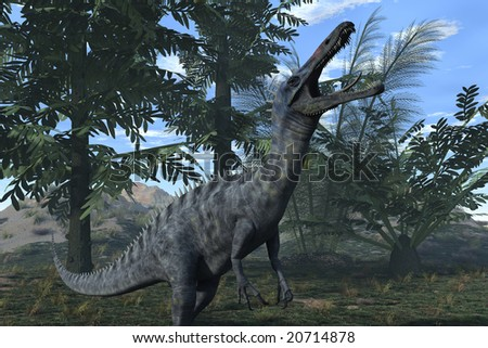 Computer Generated Image Of A Suchomimus Dinosaur