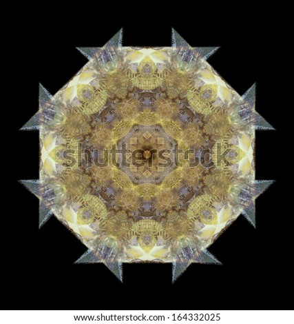 computer generated seamless kaleidoscope flower pattern illustration