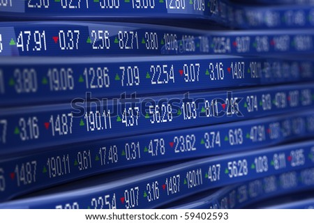 Computer generated stock trading ticker