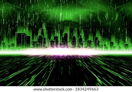 Computer generated three-dimensional matrix simulation of reality 3D Illustration Stock foto ©