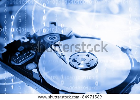 Computer hard-drive and binary codes