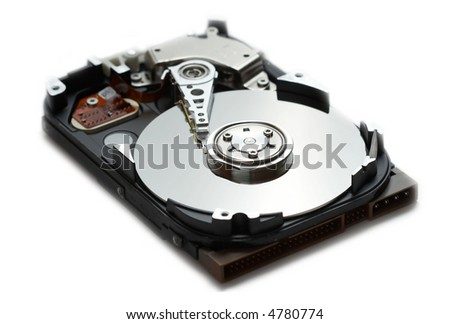 computer hard drive isolated