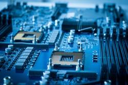 computer hardware technology microchip background