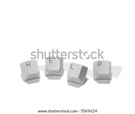 Computer Help Keys - Isolated