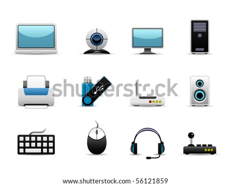 Computer Icon Set Raster