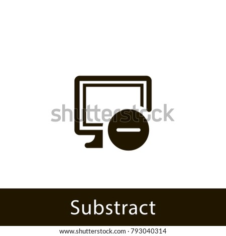 computer icon. substract computer. sign design
