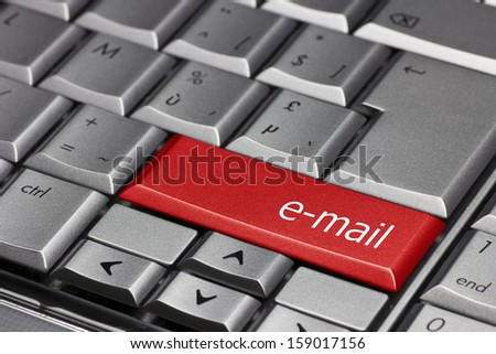 Computer key - email