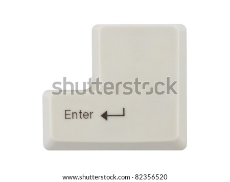 Computer key Enter isolated on white background