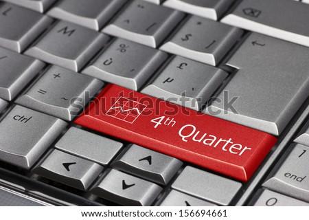 Computer key - 4th quarter Foto stock ©