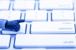computer keyboard army men