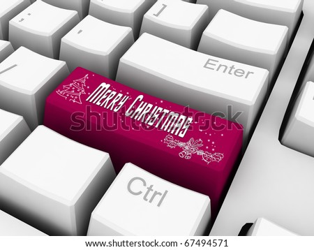 Computer Keyboard - Business Holiday Concept. Email Gifts.
