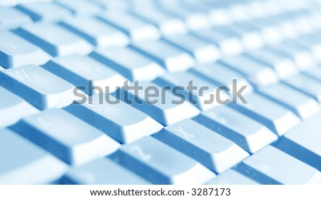 Computer keyboard close-up. See also different colour versions!