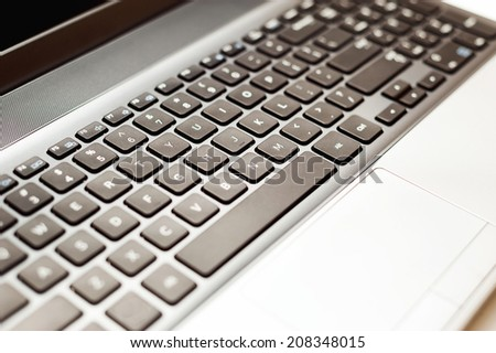 Computer keyboard close-up with copy space. selective focus #208348015