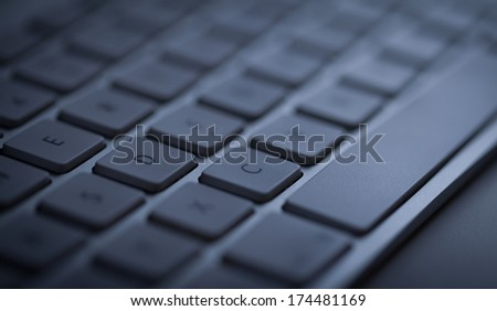 Computer keyboard close-up with empty space #174481169