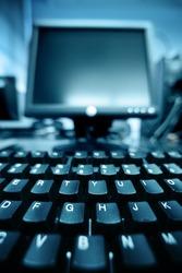 Computer keyboard detail background