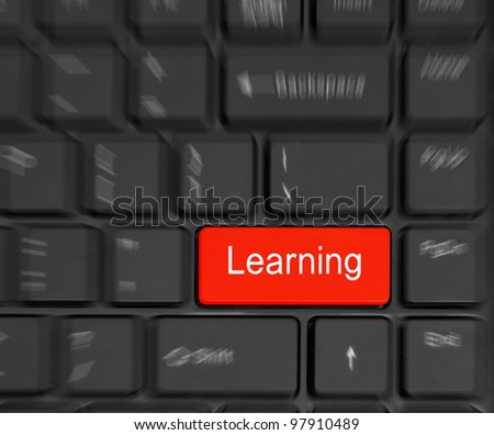 Computer Keyboard e-Learning Concept.
