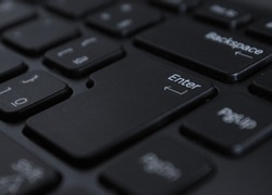 computer keyboard focused on the