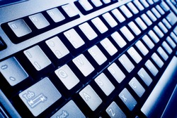computer keyboard. Technology and internet concept background.
