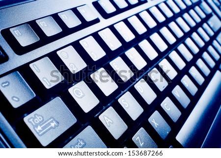 computer keyboard. technology...