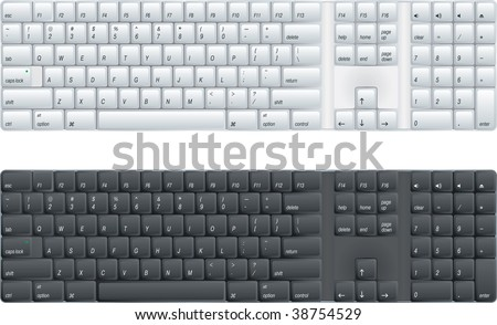 computer keyboard  (vector enable in portfolio)