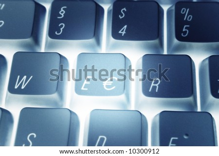 Computer keyboard with Euro-Key.