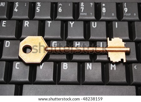 Computer keyboard with key