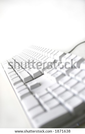 computer keyboard with white background