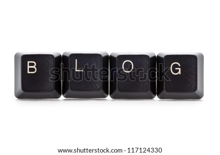 computer keys spelling the word blog