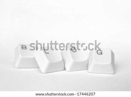 Computer keys with blog word