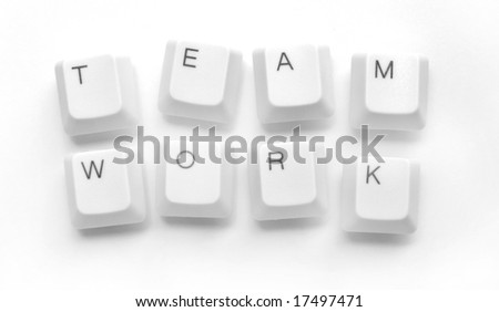 Computer keys with teamwork word - stock photo