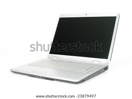 Computer laptop - isolated on the white background