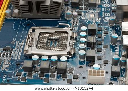Computer mainboard detail