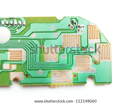 Computer memory isolated on white