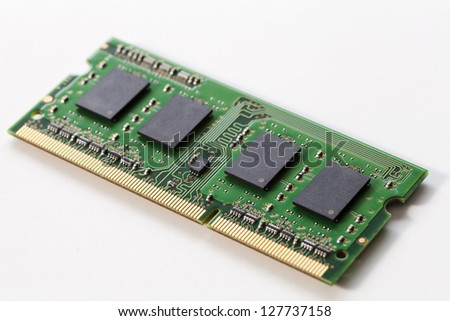Computer memory isolated on white background