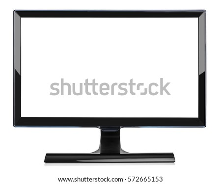 Computer monitor isolated on a white background. #572665153