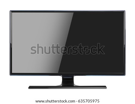 Computer monitor isolated on a white background. #635705975