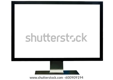 Computer monitor isolated on over white background ストックフォト ©